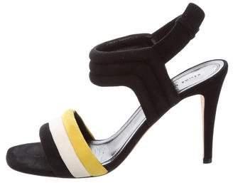 Celine Ankle Strap Suede Sandals