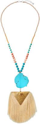 Nakamol Stone & Tassel Pendant Necklace