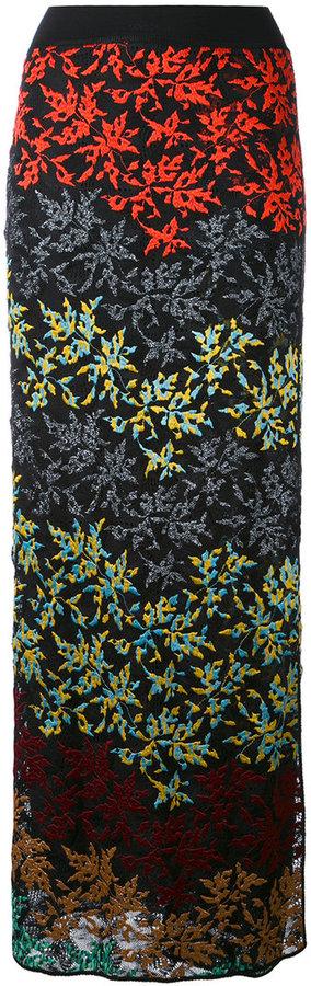 MissoniMissoni floral maxi skirt
