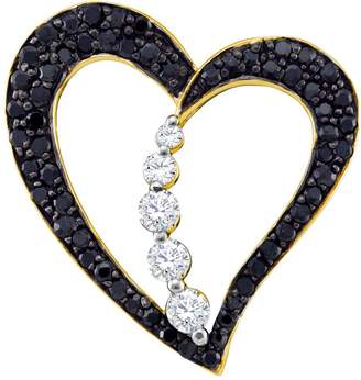 Black Diamond Jawa Fashion 1/2 Total Carat Weight HEART PENDANT