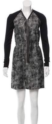 Behnaz Sarafpour Wool Tweed Mini Dress
