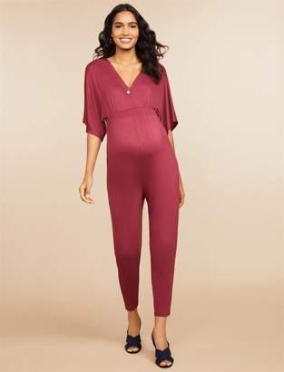 Motherhood Maternity Jessica Simpson Wrap Maternity Jumpsuit