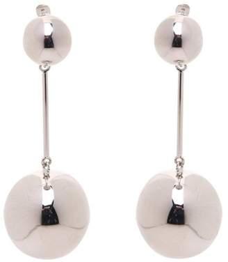 J.W.Anderson Double-sphere Palladium-plated Drop Earrings