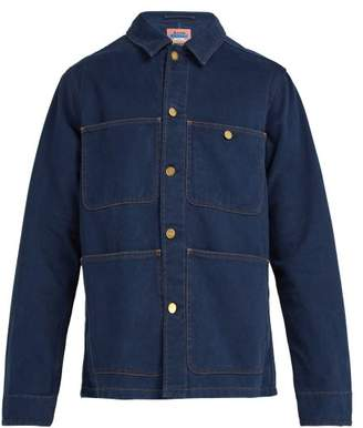 Acne Studios Albyr Cotton Workwear Jacket - Mens - Blue
