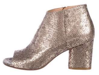 Maison Margiela Metallic Embossed Boots