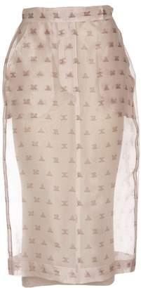 Max Mara Logo Print Double Layered Skirt