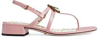 Gucci Women's Patent Leather Sandals - Pink