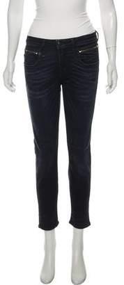 R 13 Biker Boy Mid-Rise Skinny Jeans