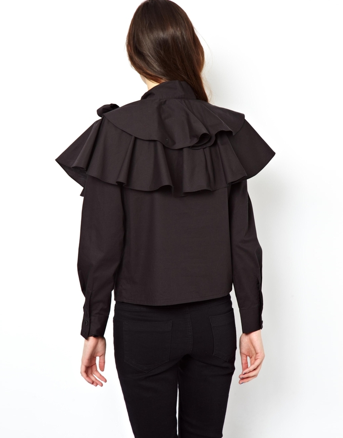 Asos Shirt with Dramatic Layered Ruffle and Pussybow