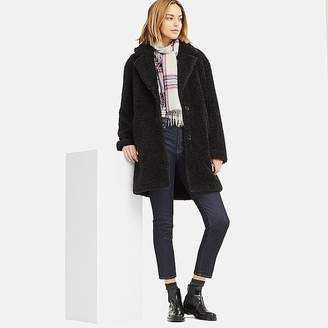 Uniqlo Women's Pile-lined Fleece Long-sleeve Tailored Coat