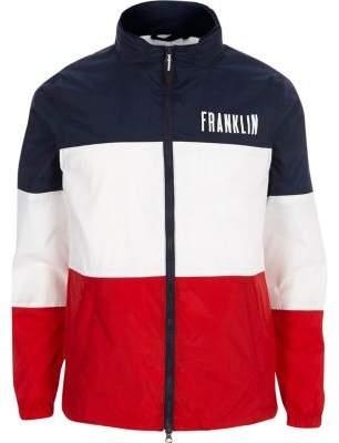 River Island Mens Navy Franklin and Marshall color block jacket