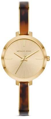 Michael Kors Jaryn Gold-Tone & Tortoise Bangle Bracelet Watch, 36mm