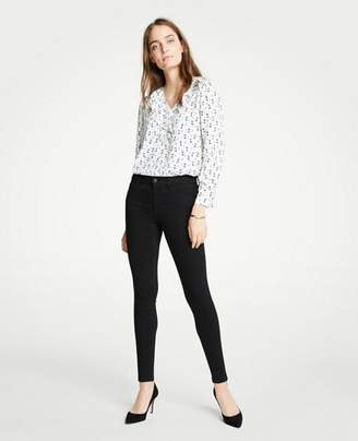 Ann Taylor Tall Modern All Day Skinny Jeans in Black