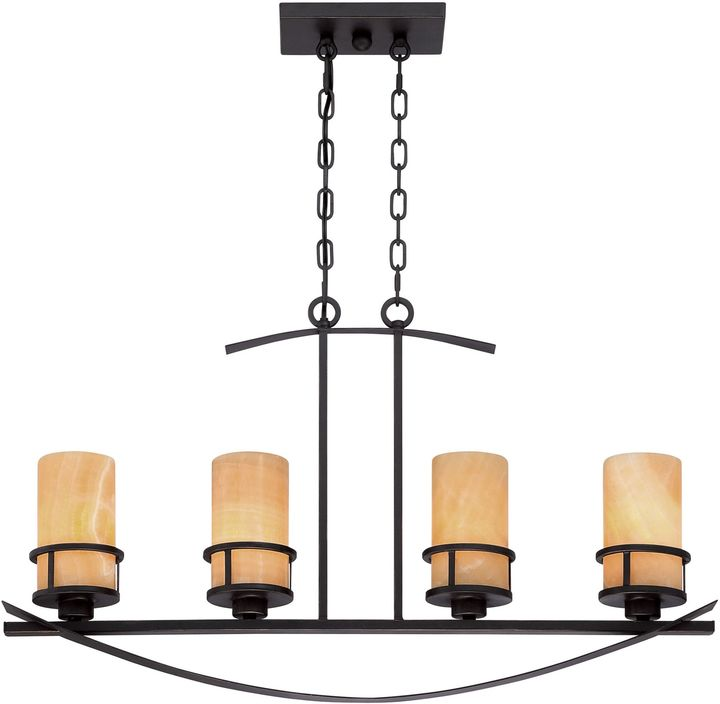 Bed Bath & Beyond Kyle 4-Light Ceiling-Mount Island Chandelier in Imperial Bronze