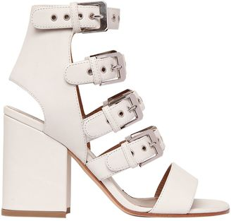 90mm Kloe Buckles Leather Sandals $970 thestylecure.com