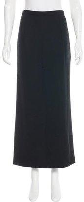 Yohji Yamamoto Wool Midi Skirt $115 thestylecure.com