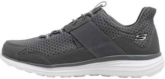 Skechers Mens Stealthy Trainers Charcoal/White