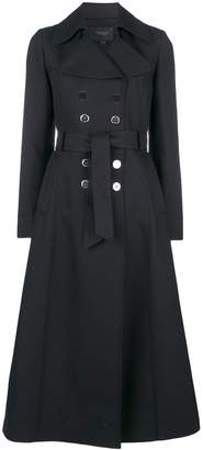 Giambattista Valli long belted flared coat