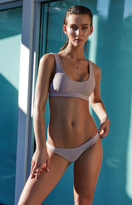 LA Hearts LUXE Sporty Seamless Cropped Bikini Top $29.95 thestylecure.com