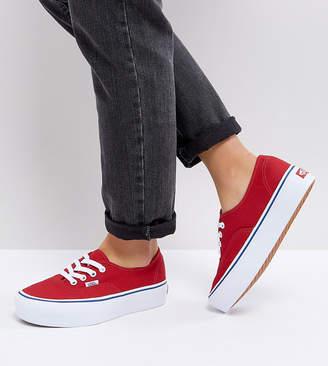 b45d6ceb01 at Asos · Vans Platform Authentic Sneakers In Red