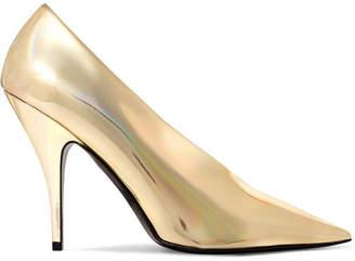Stella McCartney Metallic Faux Leather Pumps - Gold