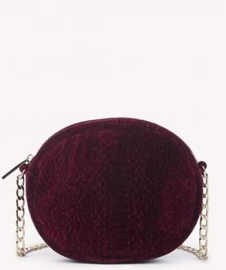 Sole Society Miza Exotic Velvet Oval Crossbody