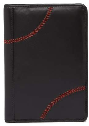 Rawlings Sports Accessories Baseball Stitch Leather Mini Pad Portfolio