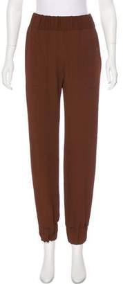 Leroy Veronique High-Rise Silk-Blend Pants w/ Tags
