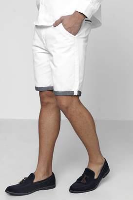 boohoo Chino Shorts With Turn Up