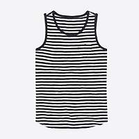 J.Crew Factory Girls' striped heart pocket tank top