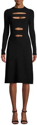 Narciso Rodriguez Slit Knit Dress
