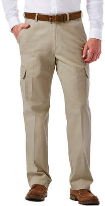 Haggar Stretch Comfort Cargo Classic-Fit Flat-Front Pants