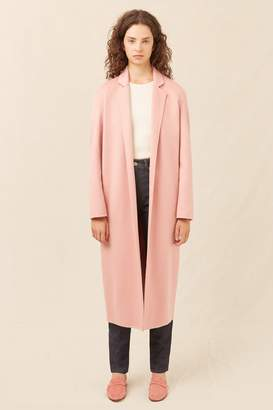 Mansur Gavriel Cashmere Narrow Buttonless Coat - Blush