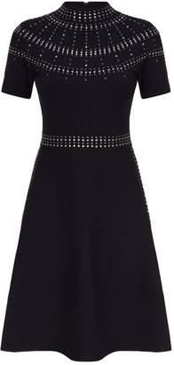 Sandro Embellished A-Line Dress