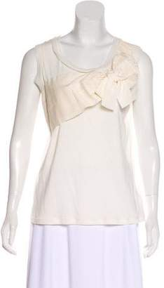 Lanvin Bow-Accented Sleeveless Top w/ Tags