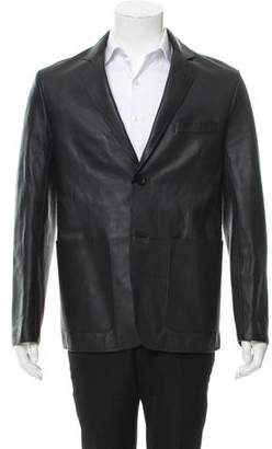 Dunhill Leather Notch-Lapel Jacket