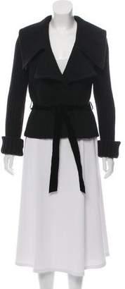 Valentino Belted Virgin Wool Knit Jacket