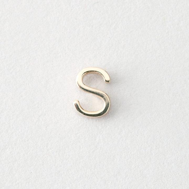 Maya Brenner DESIGNS mini letter stud earring - s