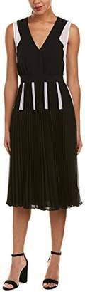 BCBGMAXAZRIA Azria Women's Savannah Color-Blocked Pleated Dress