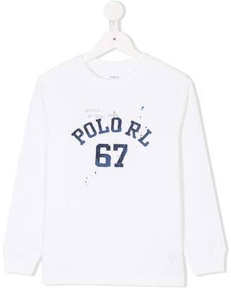 Ralph Lauren varsity print sweatshirt
