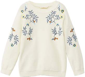 MANGO Girls Embroidred Knitted Jumper