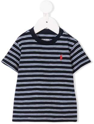 Ralph Lauren Kids striped logo T-shirt
