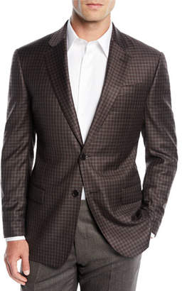 Emporio Armani Men's District Check Two-Button Wool Sport Coat Jacket