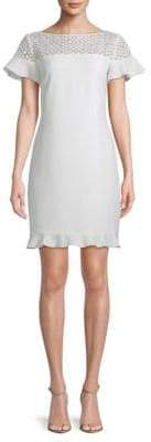 Lace-Trim Flounce Dress