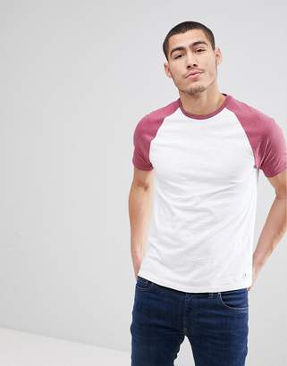 Jack Wills Verwood Raglan T-Shirt in Red