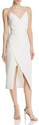 Betsey Johnson Faux-Wrap Crepe Dress