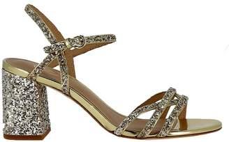 Ash Gold Glitter Sandals