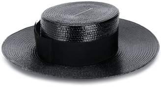 Saint Laurent small straw boater hat 06739afa617b