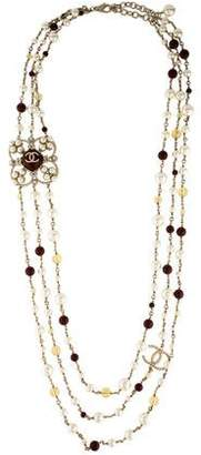 Chanel Faux Pearl, Bead & Crystal Multistrand Necklace