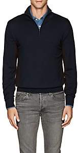 Luciano Barbera Men's Colorblocked Wool-Blend Mock-Turtleneck Sweater-Navy